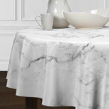 LuxeHome moderne Marmor-Tischdecke, schwarz, grau