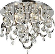 Luxera 64385 - Kristall-Deckenleuchte TARGA