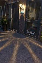 Luxform Edelstahl Wandlampe Solarleuchte