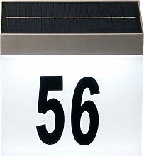 Luxform Solar-LED-Hausnummer-Wandleuchte Cornwall