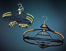 Luxin Antirutsch und Raumspar Kleiderbügel Set in