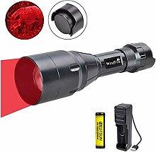 LUXJUMPER Rotlicht-Jagdtaschenlampe, dimmbar 1000