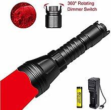 LUXJUMPER Rotlicht-Taschenlampe, 1000 Lumen