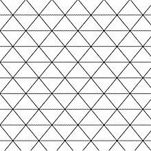 Luxton Tapete, schwarz-weißes Rautenmuster für