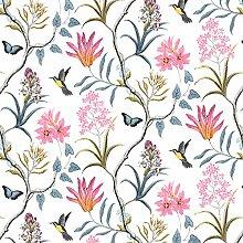 Luxton Vintage Tapete mit Vögeln und Blumen und