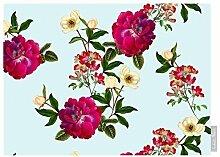 """Luxuriös Designer 100% Baumwolle Tischdecke - Blumenmuster Glade - """"Stechmücken Bank Garten"""" Sammlung - Entworfener Bedruckt & handgefertigt in Großbritannien (Wahl der Längen) - Entenei"""