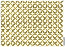 """Luxuriös Designer Marokkanische 100% Baumwolle Tischdecke - Bahia - """"Marrakesch"""" Sammlung - Entworfener Bedruckt & handgefertigt in Großbritannien (Wahl der Längen) - Mustard"""