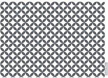 """Luxuriös Designer Marokkanische 100% Baumwolle Tischdecke - Bahia - """"Marrakesch"""" Sammlung - Entworfener Bedruckt & handgefertigt in Großbritannien (Wahl der Längen) - grau"""