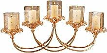 Luxuriöse Dekoration Basteln Gold Metall Glas Kerze Betreffen Fünf Leuchter Ornamente Windlichthalter Kerzenhalter