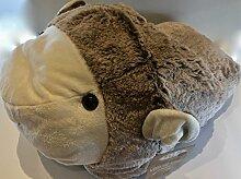 Luxuriöse GIANT Lamb Slipper–luxuriösem doppelt Slipper–superweicher grau Lamb Slipper–Tier Hausschuhe Neuheit Slipper–Großer Fußwärmer