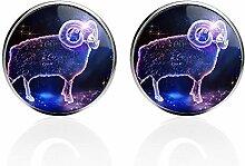 Luxuriöse Sternbilder Glas-Manschettenknöpfe