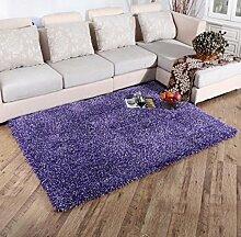 Luxuriöse Velvet Soft Teppich Bereich Teppich Rutschfeste Tür Bodenmatte für Schlafzimmer Wohnzimmer nicht verblassen nicht fallen Haar, 3, 160x230cm
