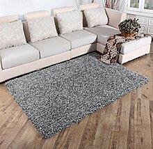Luxuriöse Velvet Soft Teppich Bereich Teppich Rutschfeste Tür Bodenmatte für Schlafzimmer Wohnzimmer nicht verblassen nicht fallen Haar, 9, 160x230cm