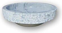 Luxuriöses, rundes Marmor-Waschbecken, 40,6 cm,