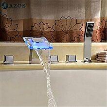 Luxurious shower Badewanne Armaturen LED Glas