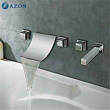 Luxurious shower Badewanne Dusche Armaturen Chrom polnischen Bad Sauna 5 pc-Sets Duschkopf, Verteiler, zwei Griffe, Dusche Schlauch, Wasserfall des Auswurfkrümmers YGWJ 021