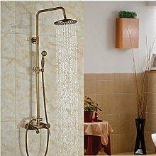 Luxurious shower Messing antik Wand montiert