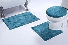 Luxury Home Collection #668 Badezimmerteppich-Set,