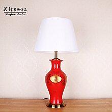 Luxury home Deko ideen geschenke-Keramik hohe Temperatur Kupfer Dekoration Tischleuchte, 420*420*790mm