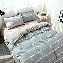 Luxury hotel quality bettwäsche cover set mit 2 kissen shams navy und weiß stripe lattice bettwäsche kollektion bettwäsche -G Queen2