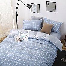 Luxury hotel quality bettwäsche cover set mit 2 kissen shams navy und weiß stripe lattice bettwäsche kollektion bettwäsche -D Twinch2