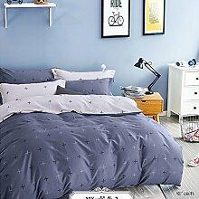 Luxury hotel quality bettwäsche cover set mit 2 kissen shams navy und weiß stripe lattice bettwäsche kollektion bettwäsche -X Queen1