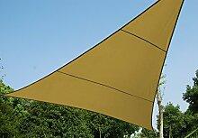 luxurygarden–Segel Dreieck Sonnenschutznetz 500x 500x 500Möbel Gartenmöbel Gartentisch Schatten Sonnenschirm Pavillon Zel