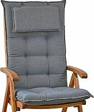 Luxus Auflagen für Hochlehner 9 cm dick mit Kopfkissen Miami 50089-51 (ohne Stuhl)
