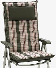 Luxus Auflagen für Hochlehner 9 cm dick mit Kopfkissen Miami 90544-710 (ohne Stuhl)