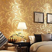 Luxus Damast GoldTapete Für Wände 3 D