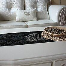 Luxus Diamant Samt Schwarz Und Weiß Tisch Flagge Mode Einfache TV Set Flag Bed Flag Meal Pad High - End Großhandel,30*200cm