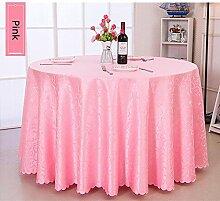 luxus druck Polyester Tischdecke Runden tisch hochzeit Hotel Couchtisch Esstisch Geschirr Home Dekoration Staub Tuch , Pink , round 2.8m