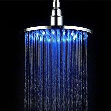 Luxus Duschkopf LED Fest Top Spray 8Inch Runde