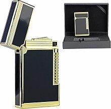 Luxus Feuerzeug Gold schwarzer Lack