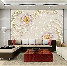 Luxus Floral Geprägte Tapete Wandbild Für