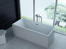 Luxus freistehende Badewanne 180x80 + Acrylwanne