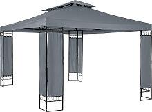 Luxus Gartenpavillon Leyla 390 x 290cm - anthrazit
