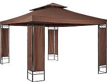 Luxus Gartenpavillon Leyla 390 x 290cm - braun