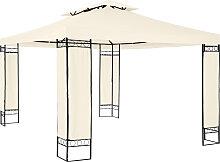 Luxus Gartenpavillon Leyla 390 x 290cm - creme