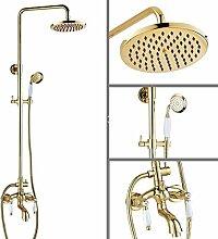 Luxus Gold Farbe Messing Wand Regen Badezimmer