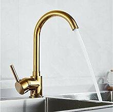 Luxus Gold Küchenarmatur Gold Messing für kalte