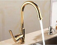Luxus Gold Swivel Küchenarmatur Bad Schiff