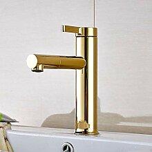 Luxus Goldene Farbe Schwenkauslauf Waschbecken