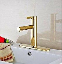 Luxus Goldene Farbe Waschbecken Wasserhahn Deck