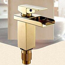 Luxus goldene Waschbecken Wasserhahn mit massivem
