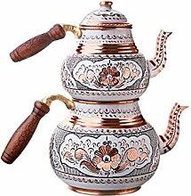 Luxus handgemachte gehämmerte Kupfer Teekanne