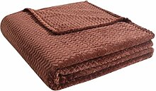 Luxus Home Strickdecke, Schokolade, Queen