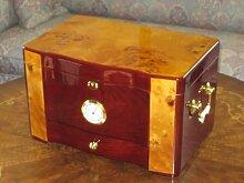 Luxus Humidor Handarbeit für ca. 120 Zigarren Echtholz Vogelaugen Furnier
