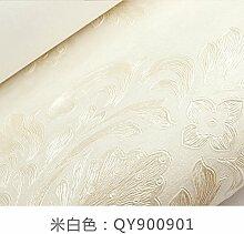 Luxus im europ?ischen Stil Tapete3DDreidimensionales Relief?Das Wohnzimmer TV-Wand Damaskus Schlafzimmer Tapete?AbAusgabe,M, Wei?