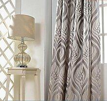 Luxus Jacquard Jalousien Vorhänge für Wohnzimmer Bett Zimmer Home Drape Dekor Grau Custom Günstige Schöne Vorhänge & Vorhänge , 230*450 , 1pc(200x270cm)